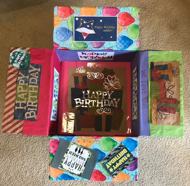 Military Care Package Box Decorating Ideas