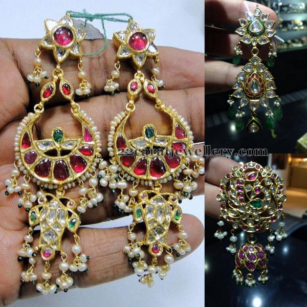 Large Kundan Hangings