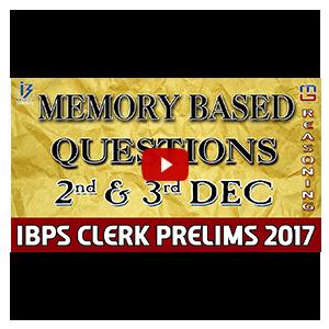 Memory Based Questions | 2nd & 3rd Dec | Reasoning | IBPS Clerk PRE 2017