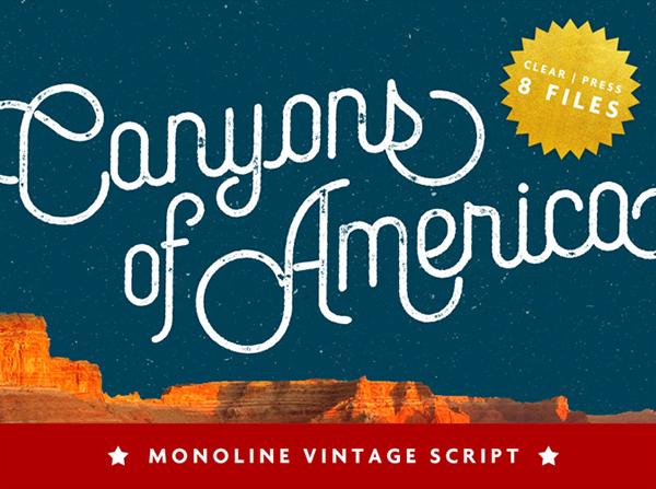 Canyons Vintage Script Free Font   Freebies PSD