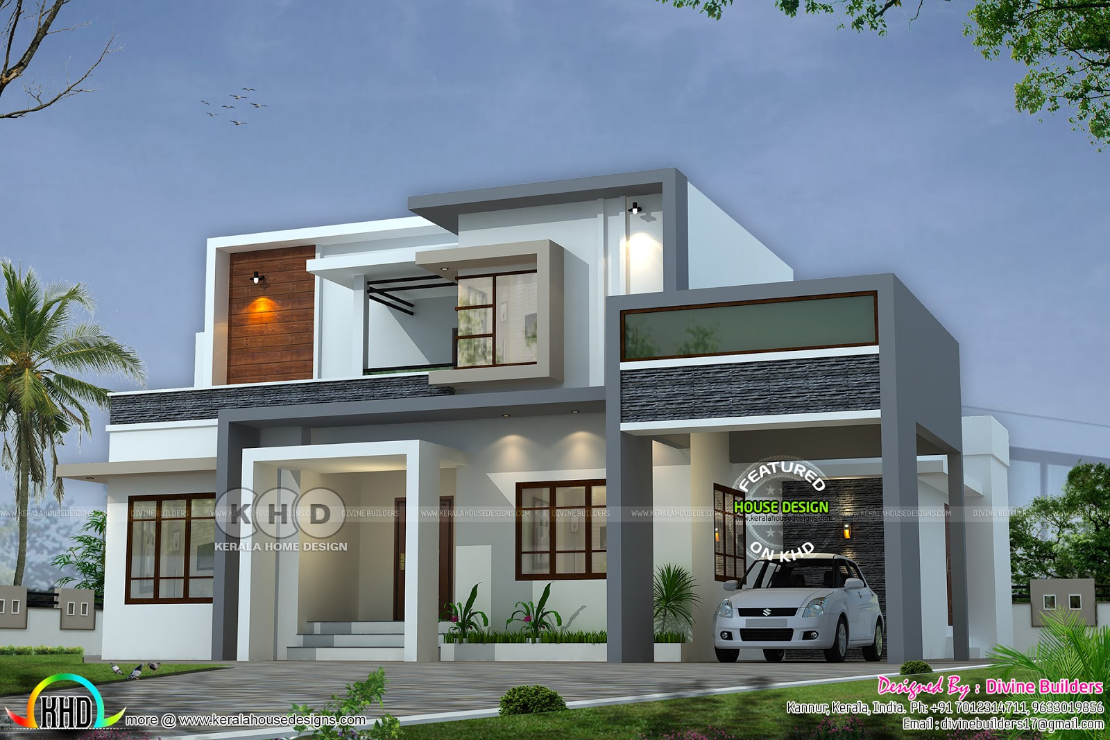 2017 kerala home design and floor plans for Contemporary home plans free