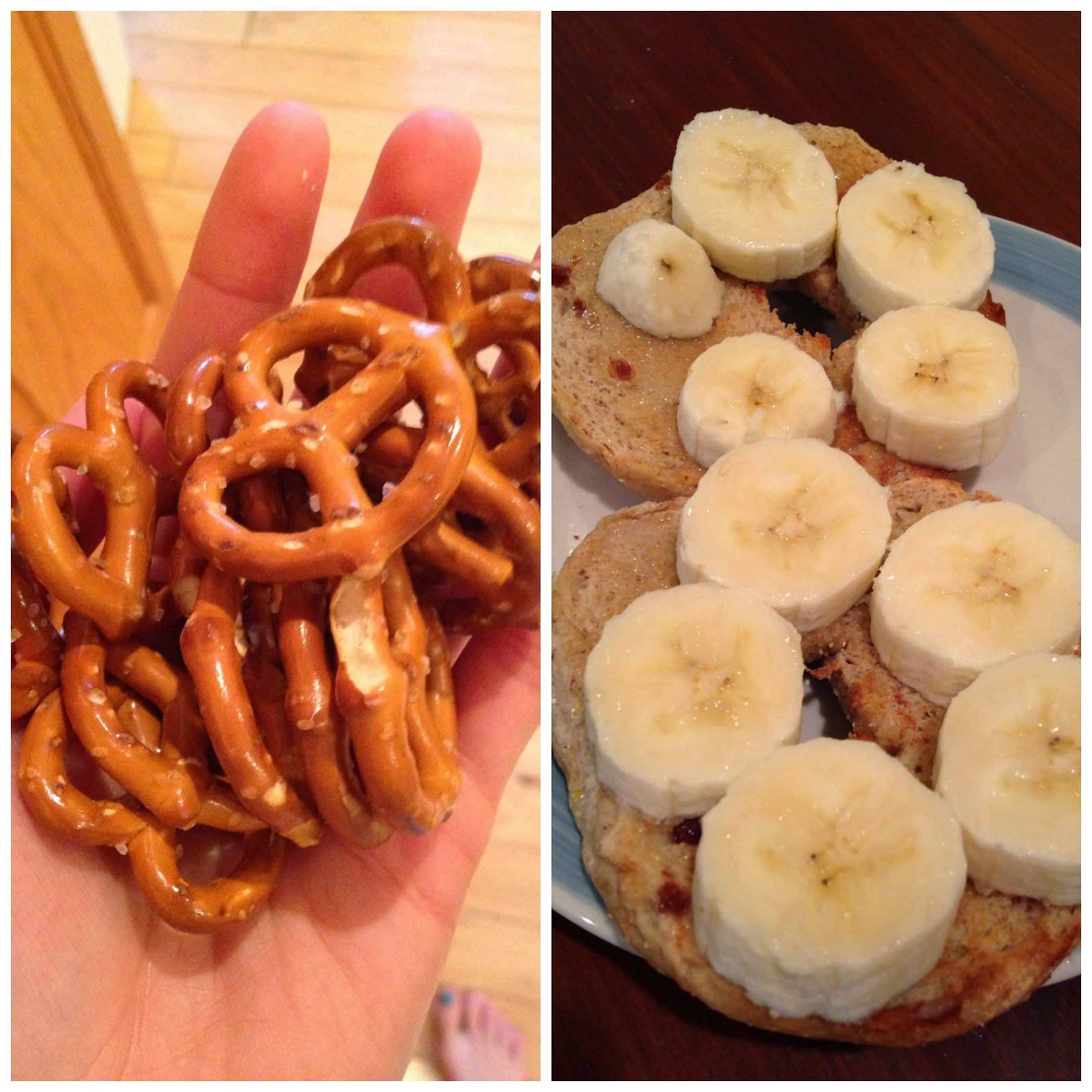 Pretzels and Bananas Are Great Pre-Run Foods