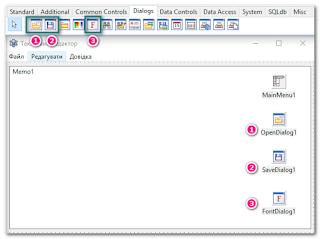 Компоненти форми текстового редактора