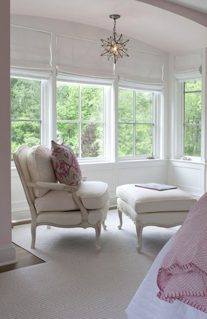 bergere chair white girl's bedroom pink accents