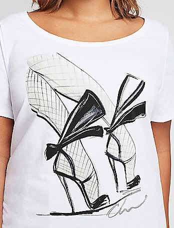 Heels Sketch Tee Christian Siriano for Lane Bryant
