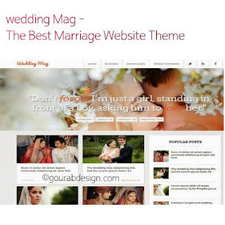 wedding mag unique blogger template