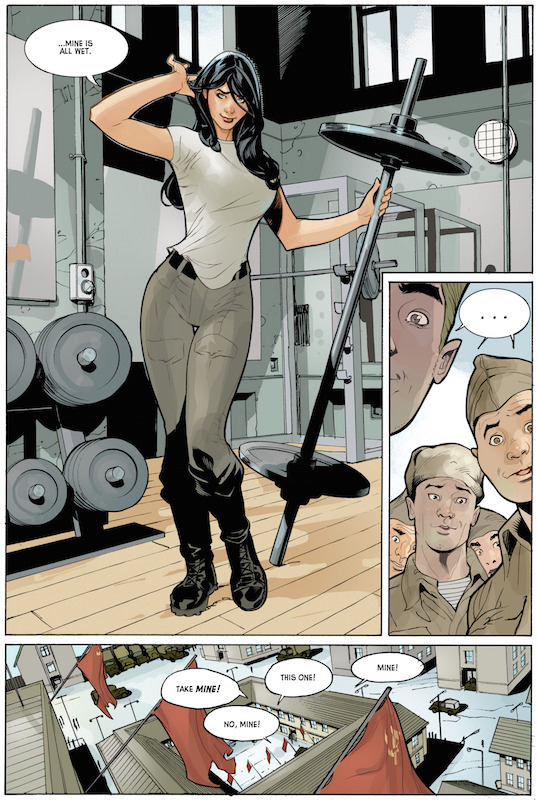 Red One #1 by Xavier Dorison, Terry Dodson, Rachel Dodson.