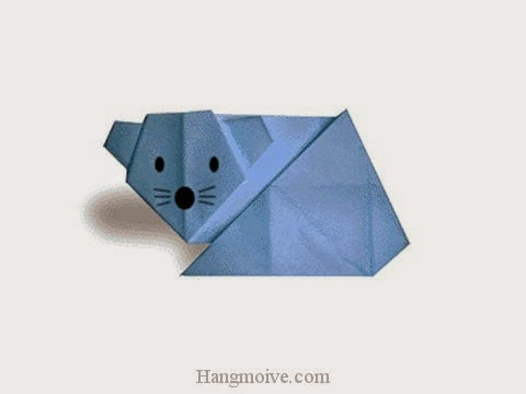 Cách gấp, xếp con chuột bằng giấy origami - How to fold a Mouse