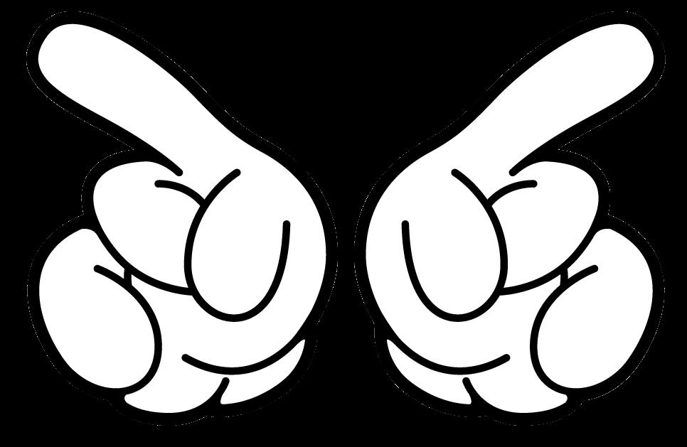 Mickey Mouse Para Imprimir De Manos Manos De Mickey Para: Rapunzel Pascal: Mickey Mouse Hand