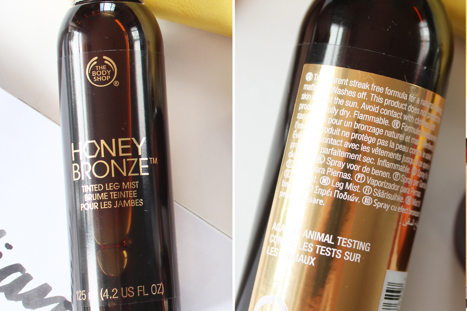 THE BODY SHOP | New Honey Bronze Tinted Leg Mist + Highlighting Domes - CassandraMyee