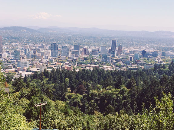 2 days in Portland view from pittock mansion