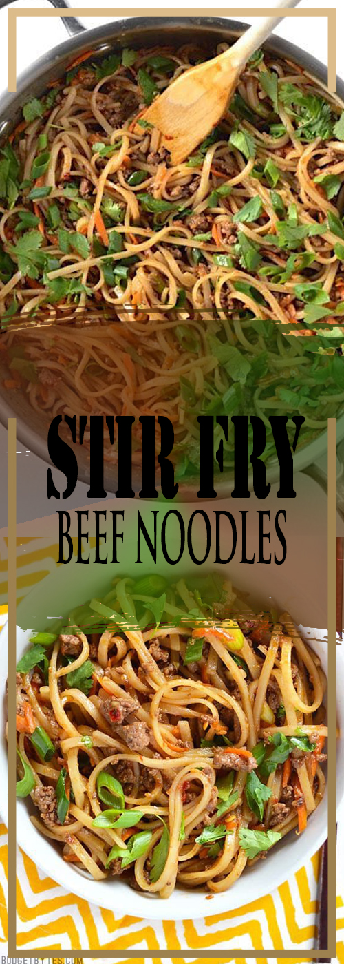 STIR FRY BEEF NOODLES RECIPE