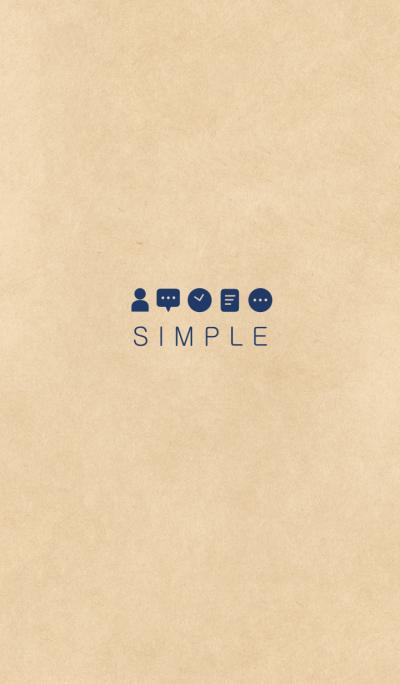 SIMPLE KRAFT(beige blue)b