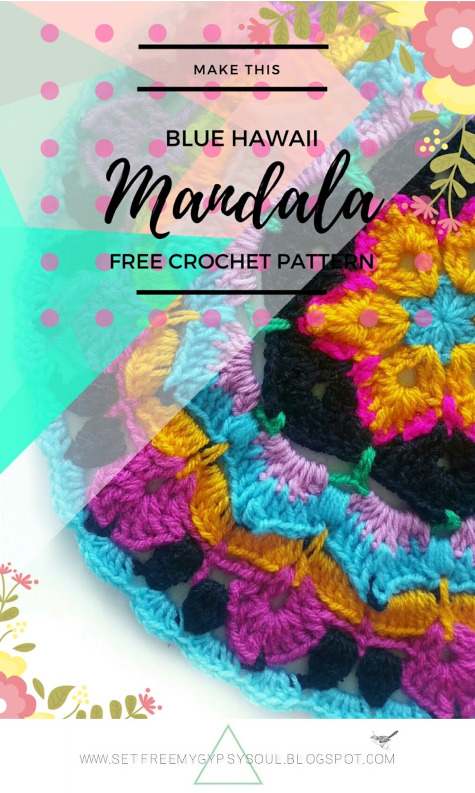 african flower crochet pattern hippie boho floral