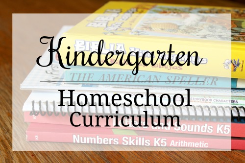 Homeschool curriculum picks for Kindergarten-from a mom of 5