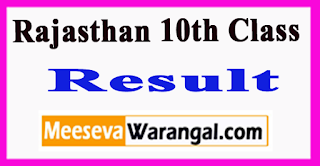 Rajasthan 10th Class Result 2017