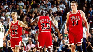 Michael Jordan, Luc Longley, Steve Kerr, Chicago Bulls, teammates