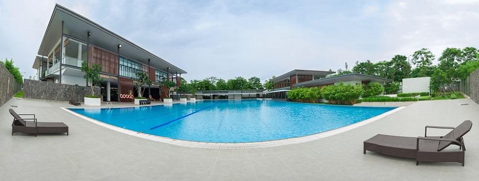 Bể bơi trong dự án Gamuda Gardens