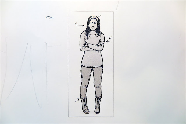 Line Drawing Female : How to design and draw a realistic female warrior