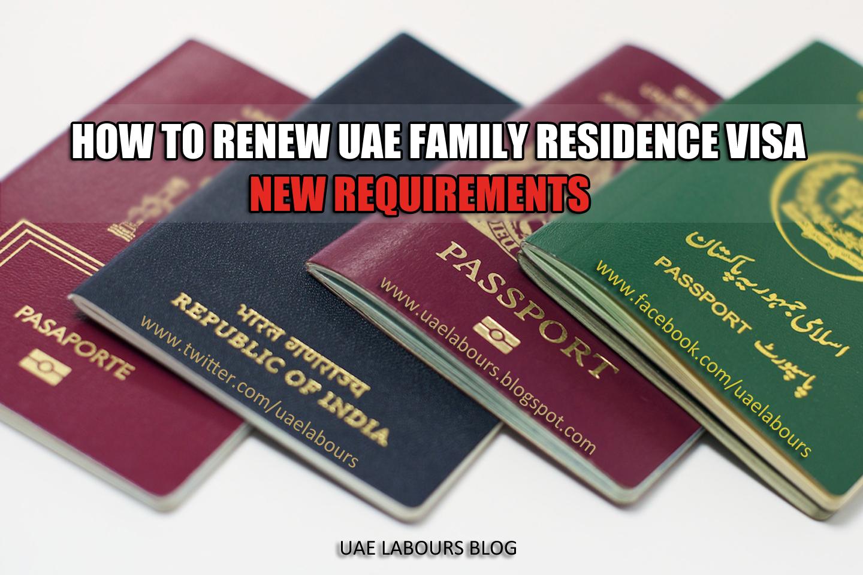 How To Renew Uae Family Visa How To Renew Uae Residency How To Renew