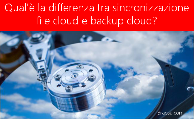 Qual è la differenza tra sincronizzazione file cloud e backup cloud?