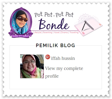 Sahabat blogger pilihan Starlavenderluna : Bonde Zaidalifah