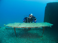 Diver on the Liberty wreck in Cyprus