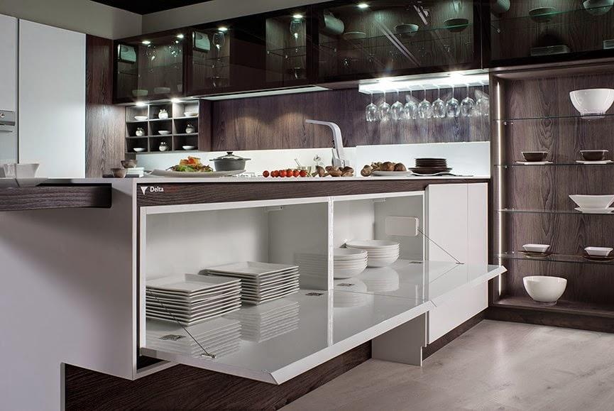 12 ideas para hacer m s c modo el trabajo en la cocina cocinas con estilo - Accesorios de cocina de diseno ...