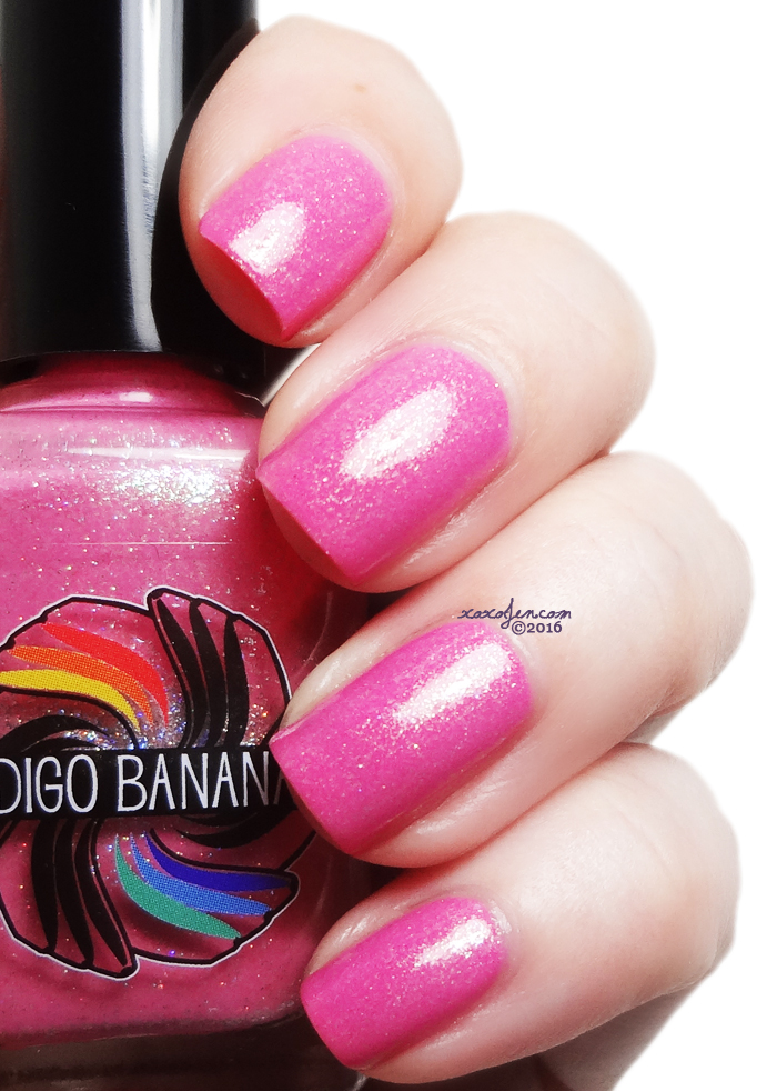 xoxoJen's swatch of Indigo Bananas Cherry Blossom Roads