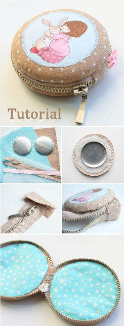 Mini Zippered Pouch.Quick and easy gift ideas. DIY Tutorial