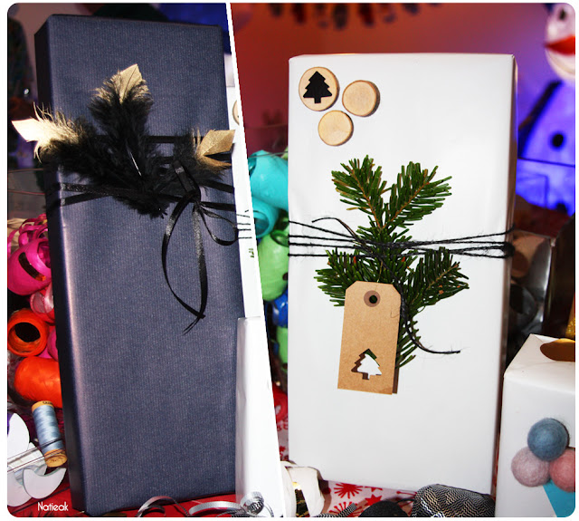 Joli emballage de cadeaux de Noël