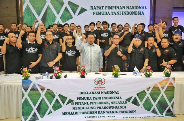 Pemuda Tani Indonesia Tegaskan Dukung Prabowo-Sandi