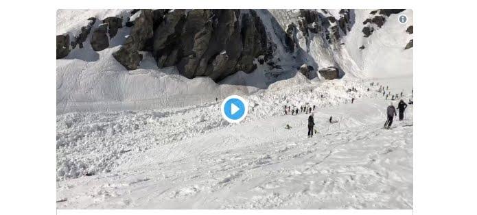 Valanga di neve seppellisce diverse persone sulla pista di Plaine Morte in Svizzera.