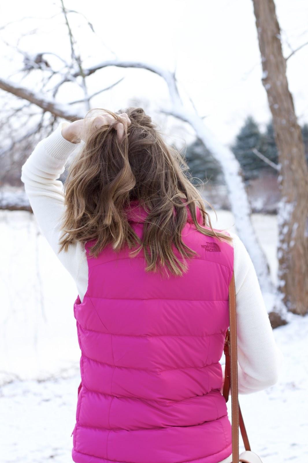 Hot pink women's vest