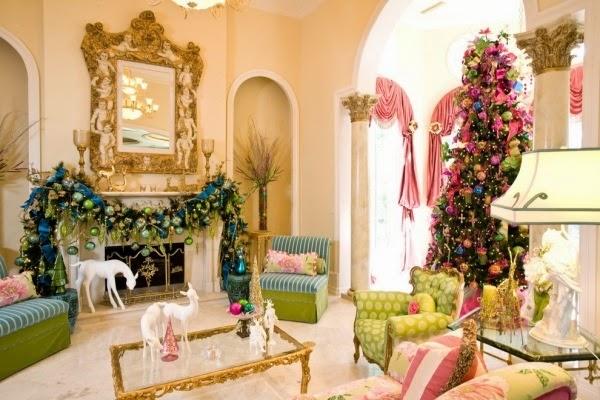 decorar sala Navidad