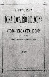 Imagen de la portada del Discruso leído en el Ateneo