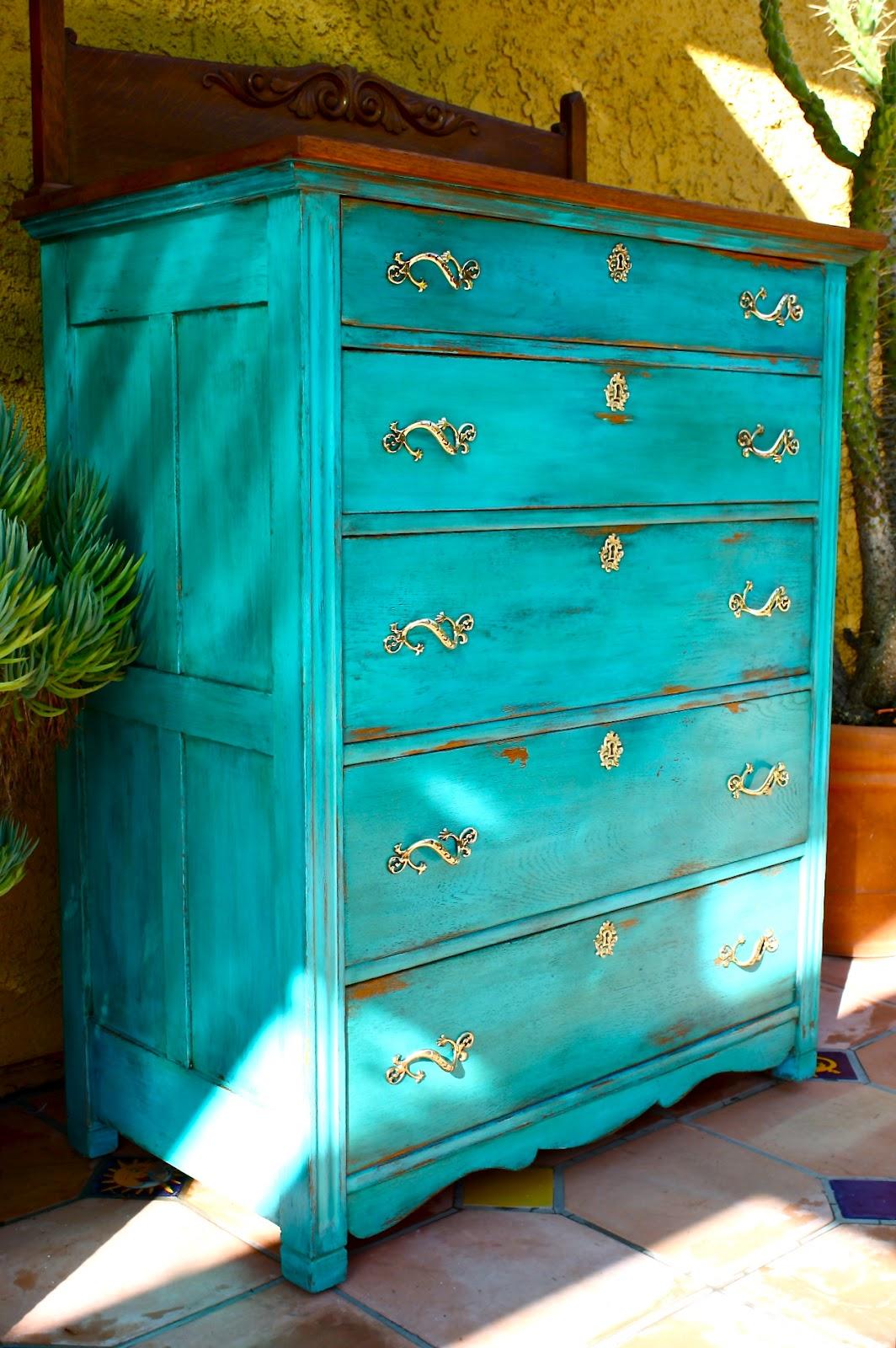 Makemeprettyagain Another Gem Colored Milk Paint Dresser