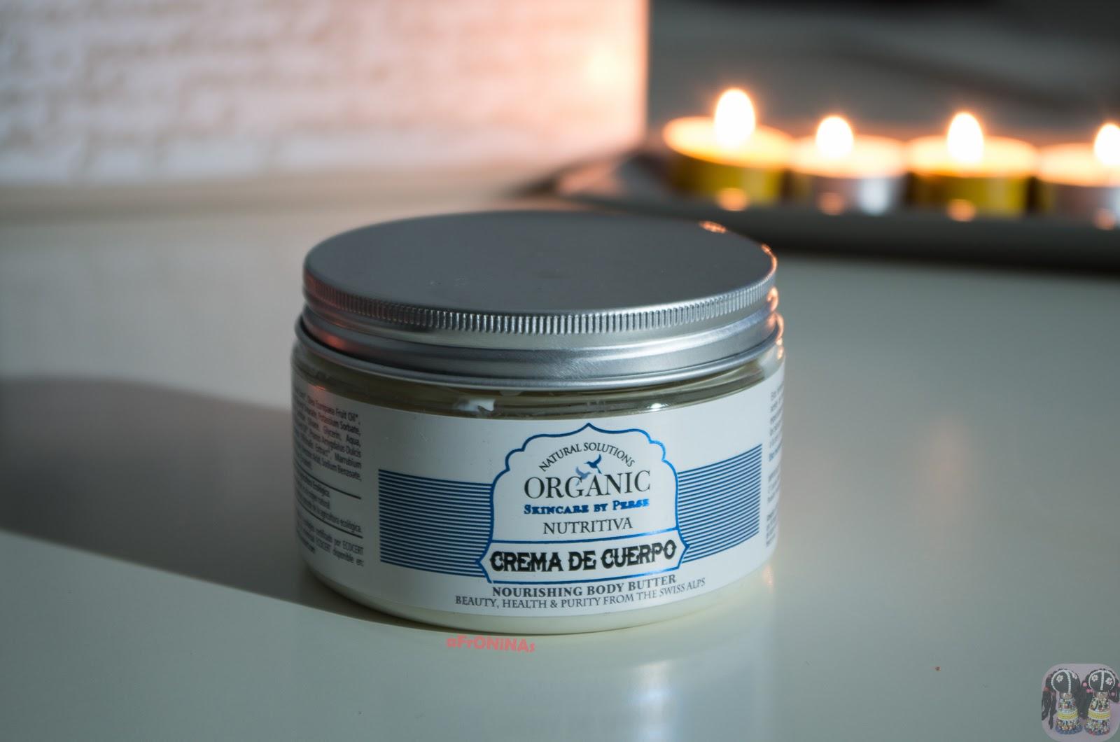 natural solutions organic skincare persé crema corporal hidratante opinion blog