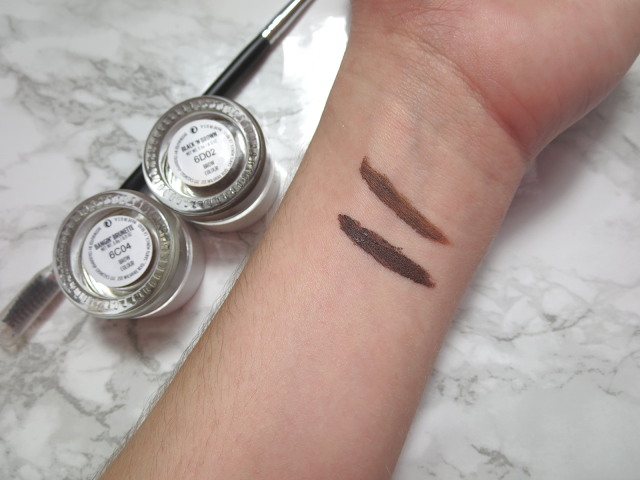 a picture of Colourpop Brow Colour in Bangin' Brunette & Black n' Brown (swatch)