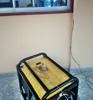 Shock As Man Takes His Generator To Govt. Hospital During His Child's Treatment (Photo)