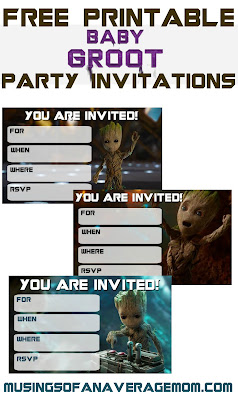 free guardians of the galaxy invitations