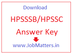 image : Download HPSSSB/HPSSC Answer Key 2017-18 @ JobMatters.in