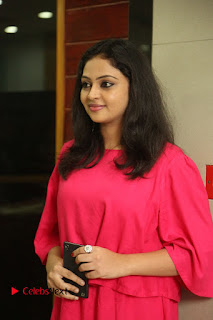 Actress Arundathi Nair Stills in Red Chididar at Bethaludu Success Meet  0001.JPG