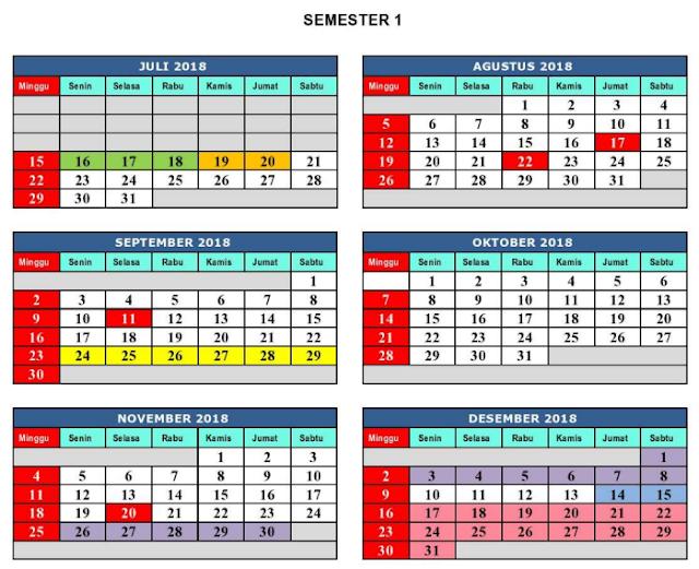 Kalender Pendidikan 2018 / 2019 Dinas Pendidikan Kab. Bekasi