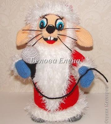 Вязаный заяц-Дед Мороз из ну погоди
