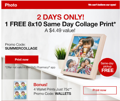 free is my life free 8x10 collage print with secret code at cvs