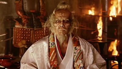 Tatsuya Nakadai as the senile warlord Hidetora in Ran, a character inspired by Shakespeare's King Lear, Directed by master Japanese filmmaker Akira Kurosawa