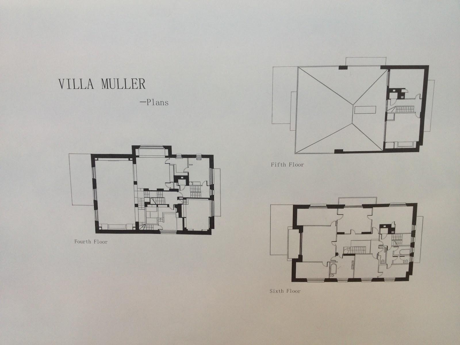 Zhangyu Vera Adolf Loos Villa Muller Drawings