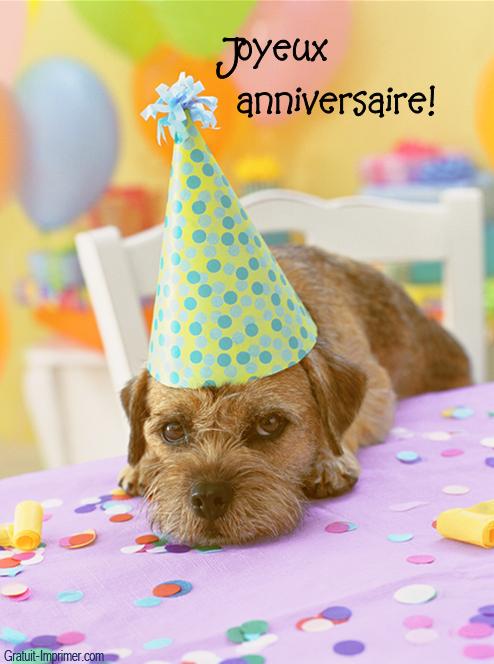 Images pour blogs et facebook joyeux anniversaire avec chien - Photo de chiot a imprimer ...