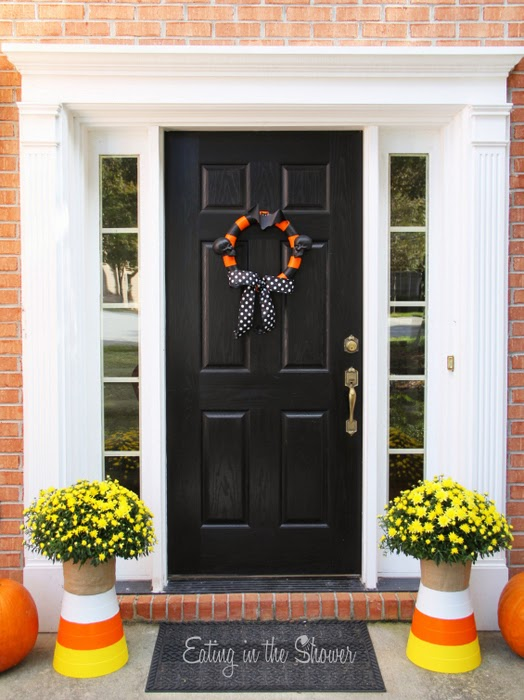 Front Door Candy Corn Decorations